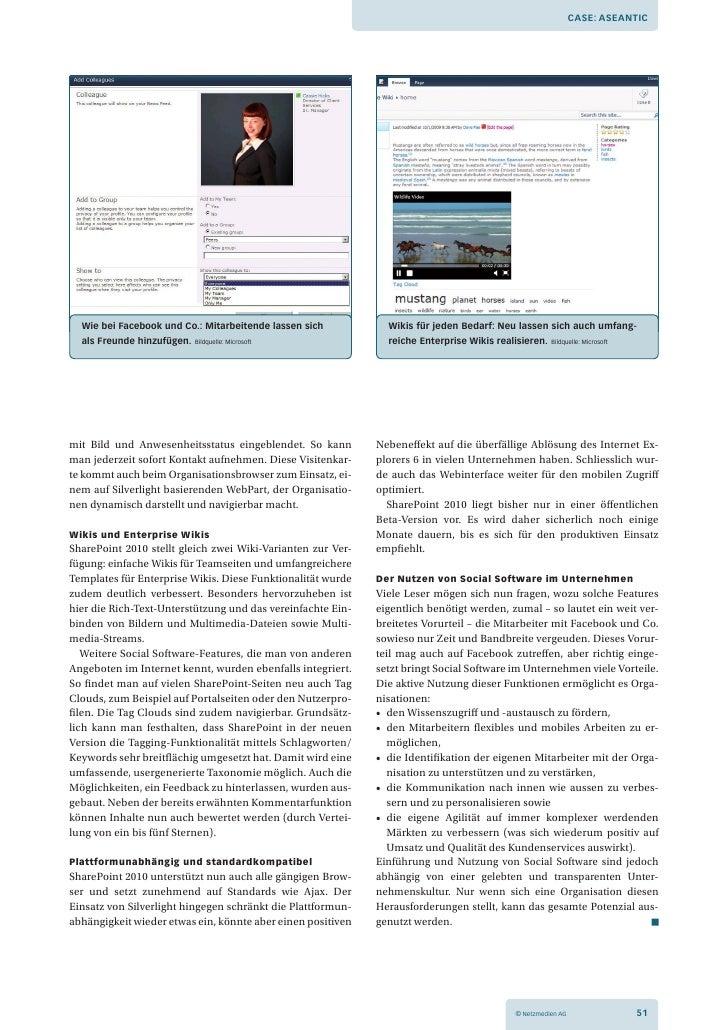 Case: aseantiC  Wie bei Facebook und Co.: Mitarbeitende lassen sich          Wikis für jeden Bedarf: neu lassen sich auch ...