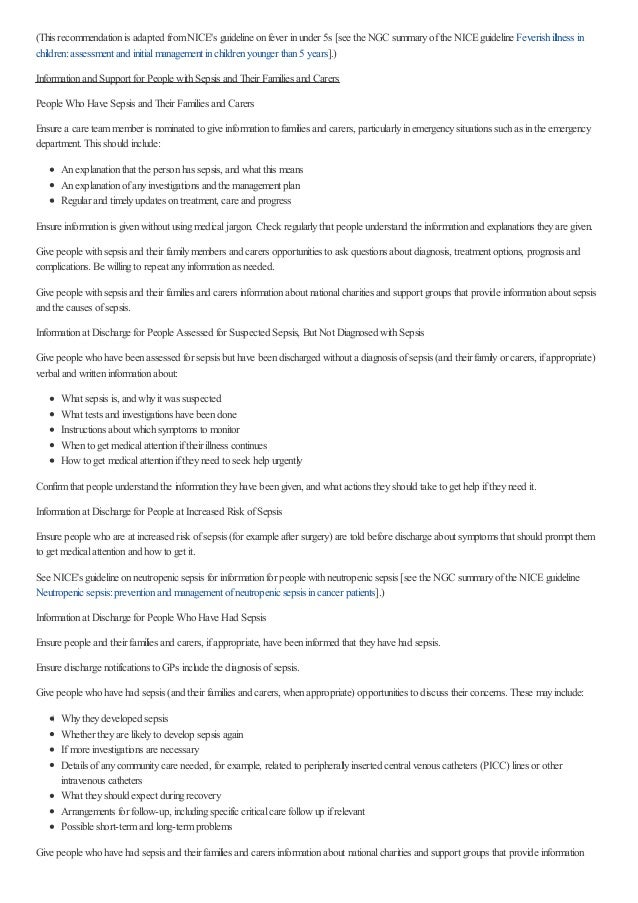 (This recommendationis adapted fromNICE's guideline onfever inunder 5s [see the NGC summaryofthe NICEguideline Feverishill...