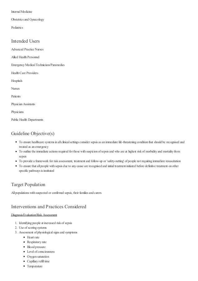 InternalMedicine Obstetrics and Gynecology Pediatrics Intended Users Advanced Practice Nurses Allied HealthPersonnel Emerg...