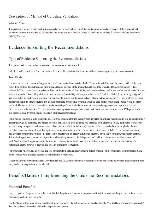 Description of Method of Guideline Validation ValidationProcess This guidance is subject to a 6-week public consultationan...