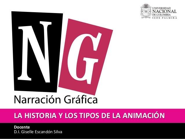 LA HISTORIA Y LOS TIPOS DE LA ANIMACIÓN  Docente  D.I. Giselle Escandón Silva