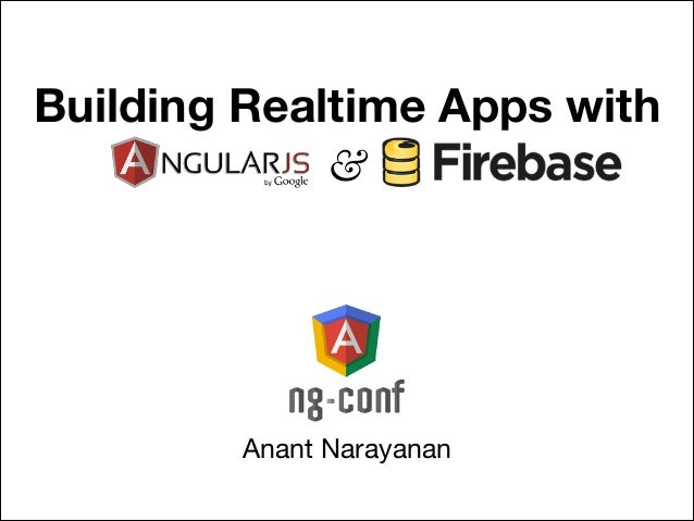 Building Realtime Apps with &  Anant Narayanan