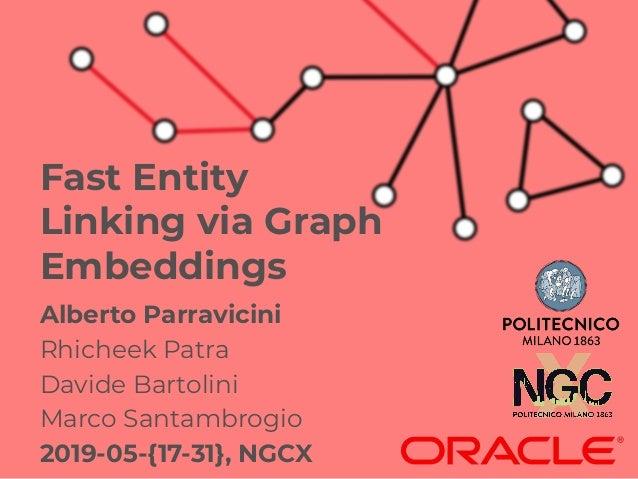 Alberto Parravicini Rhicheek Patra Davide Bartolini Marco Santambrogio 2019-05-{17-31}, NGCX Fast Entity Linking via Graph...