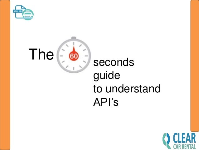 The seconds guide to understand API's