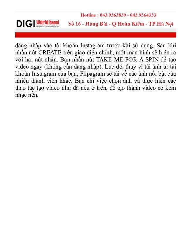 Ứng dụng flipagram tạo video từ ảnh instagram Slide 3