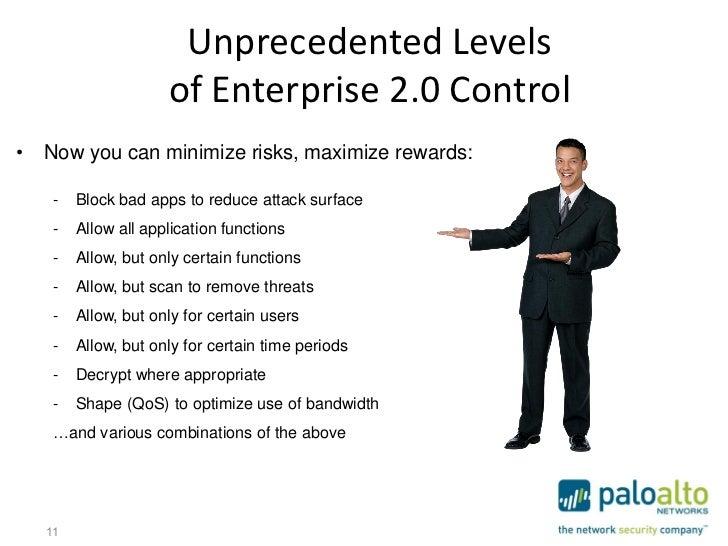 Unprecedented Levels                     of Enterprise 2.0 Control• Now you can minimize risks, maximize rewards:    -   B...