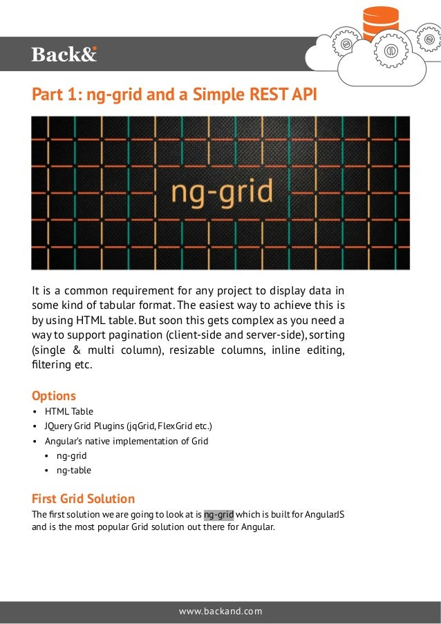 Part 1: ng-grid and a Simple REST API