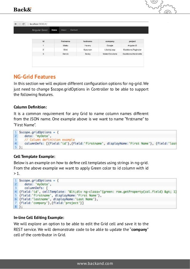 Part 1 Ng Grid And A Simple Rest Api