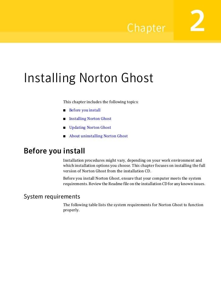 norton ghost 15 user guide