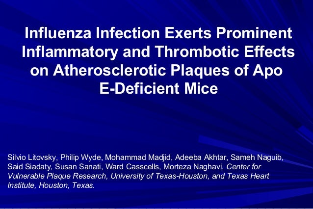 Influenza Infection Exerts Prominent Inflammatory and Thrombotic Effects on Atherosclerotic Plaques of Apo E-Deficient Mic...