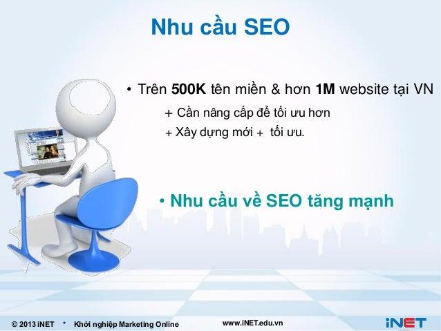 Nhu cầu SEO • Trên 500K tên miền & hơn 1M website tại VN + Cần nâng cấp để tối ưu hơn + Xây dựng mới + tối ưu.  • Nhu cầu ...