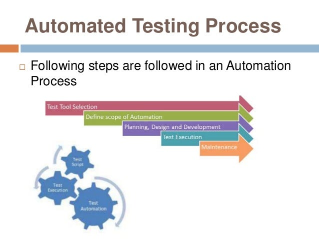 Automated Testing Process  Following steps are followed in an Automation Process