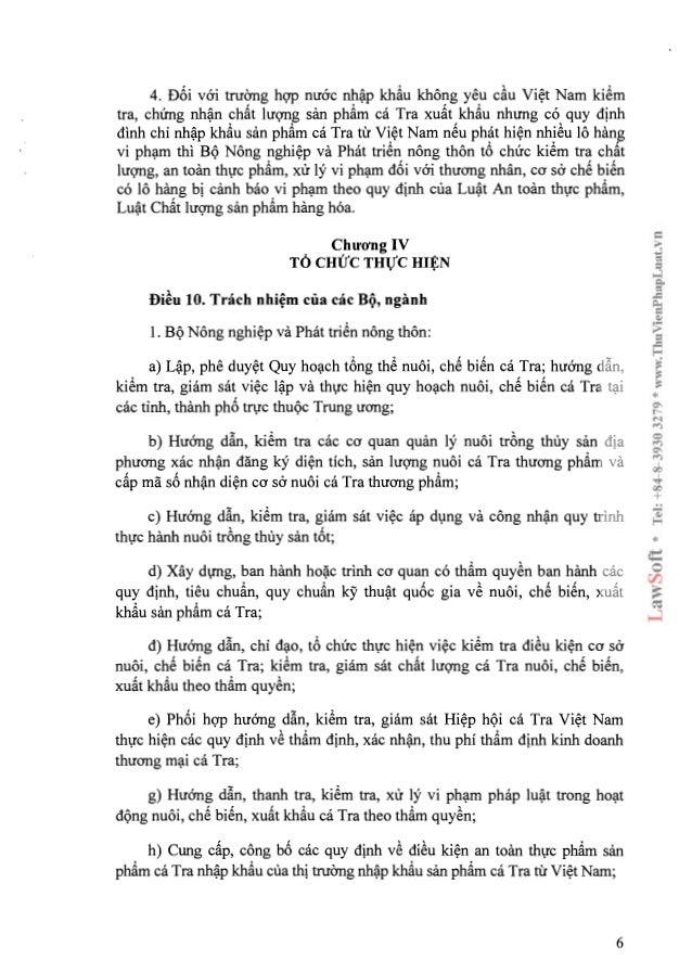 Nghi dinh 36-2014-ND-CP ve nuoi - che bien - xuat khau san pham ca tra