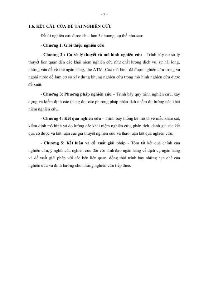 - 7 - 1.6. KẾT CẤU CỦA ĐỀ TÀI NGHIÊN CỨU Đề tài nghiên cứu được chia làm 5 chương, cụ thể như sau: - Chƣơng 1: Giới thiệu ...