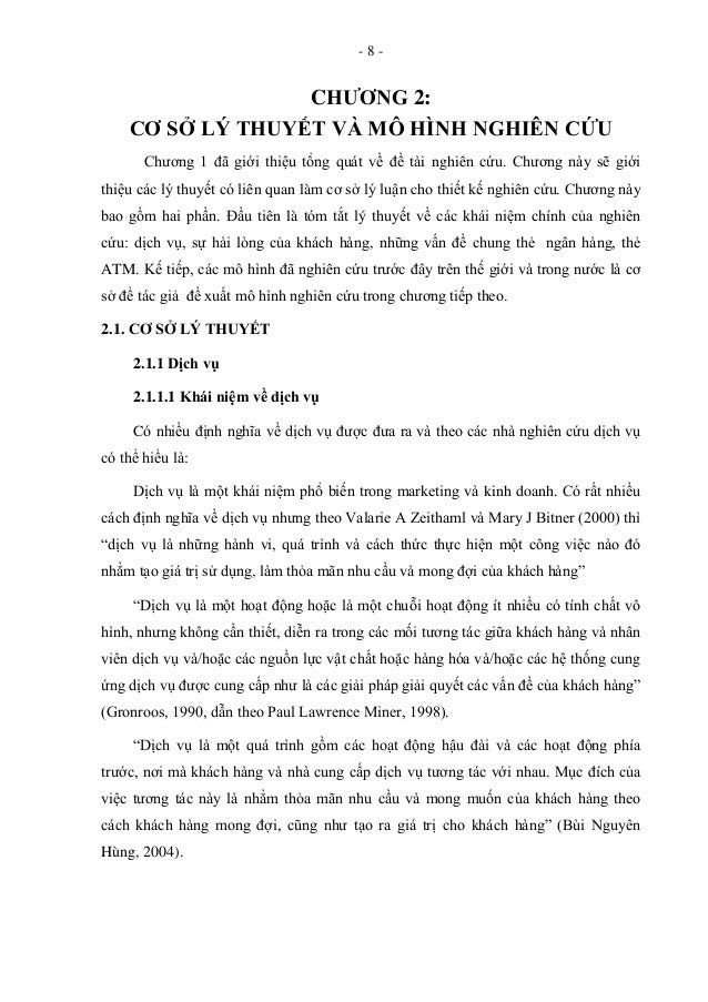 - 8 - CHƢƠNG 2: CƠ SỞ LÝ THUYẾT VÀ MÔ HÌNH NGHIÊN CỨU Chương 1 đã giới thiệu tổng quát về đề tài nghiên cứu. Chương này sẽ...