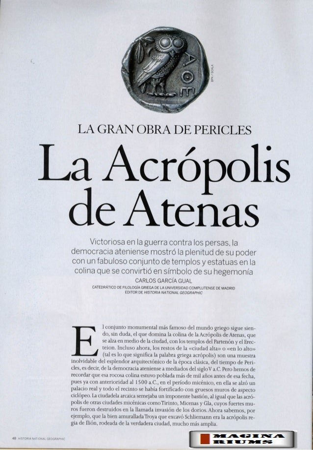 Acrópolis de Atenas (NG Historia)