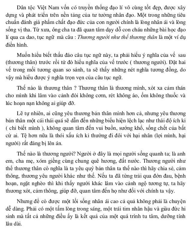 Dân tộc Việt Nam vốn có truyền thống đạo lí vô cùng tốt đẹp, được xây dựng và phát triển trên nền tảng của tư tưởng nhân đ...