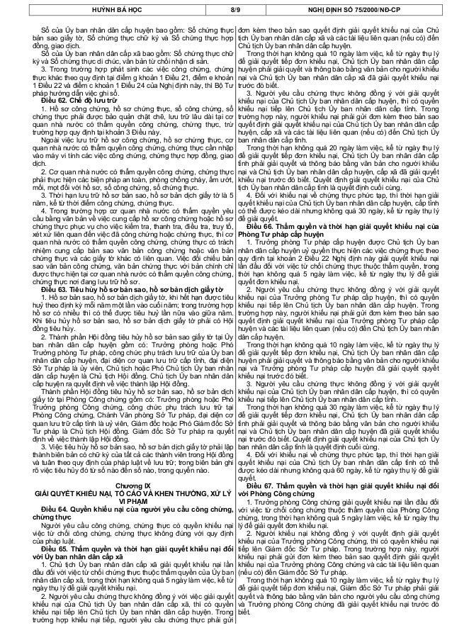 HUỲNH BÁ HỌC 8/9 NGHỊ ĐỊNH SỐ 75/2000/NĐ-CPSổ của Ủy ban nhân dân cấp huyện bao gồm: Sổ chứng thựcbản sao giấy tờ, Sổ chứn...