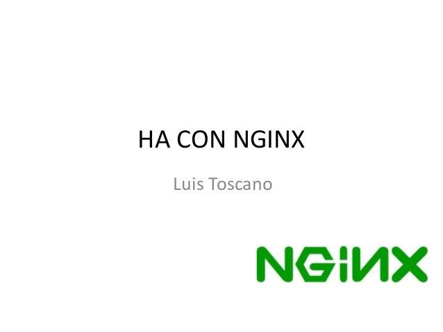 HA CON NGINX Luis Toscano