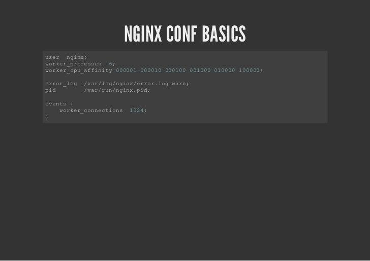 NGINX CONF BASICSht { tp   icue    nld    /t/gn/ietps            ecnixmm.ye;   dfuttp apiainottsra;    eal_ye plcto/ce-tem...
