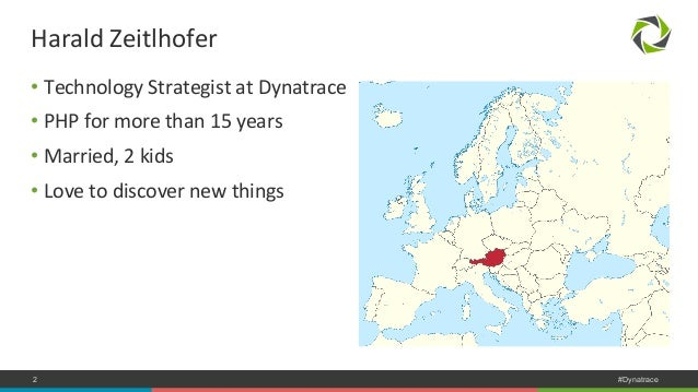 Harald  Zeitlhofer  • Technology  Strategist  at  Dynatrace  • PHP  for  more  than  15  years  • Married,  2  kids  • Lov...