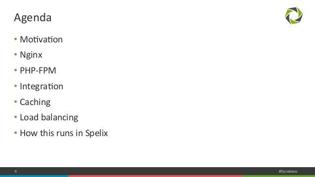 Agenda  • MoNvaNon  • Nginx  • PHP-‐FPM  • IntegraNon  • Caching  • Load  balancing  • How  this  runs  in  Spelix  COMPA...