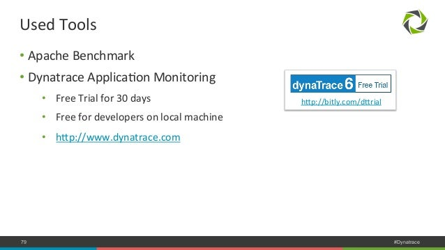 Used  Tools  • Apache  Benchmark  • Dynatrace  ApplicaNon  Monitoring  • Free  Trial  for  30  days  • Free  for  develope...