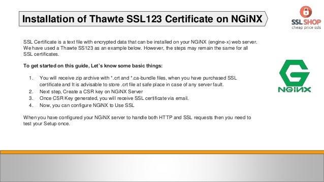 How to Install Thawte SSL123 Certificate on NGiNX Server? Slide 2