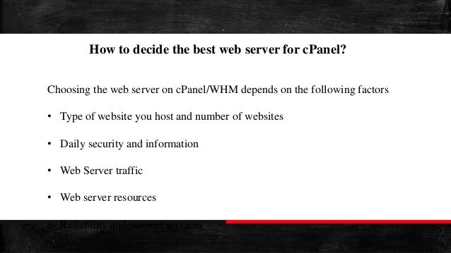 Nginx vs Apache - Web Servers For cPanel
