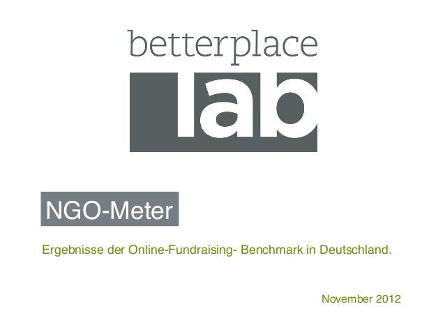 NGO-Meter!Ergebnisse der Online-Fundraising- Benchmark in Deutschland.!                                                Nov...