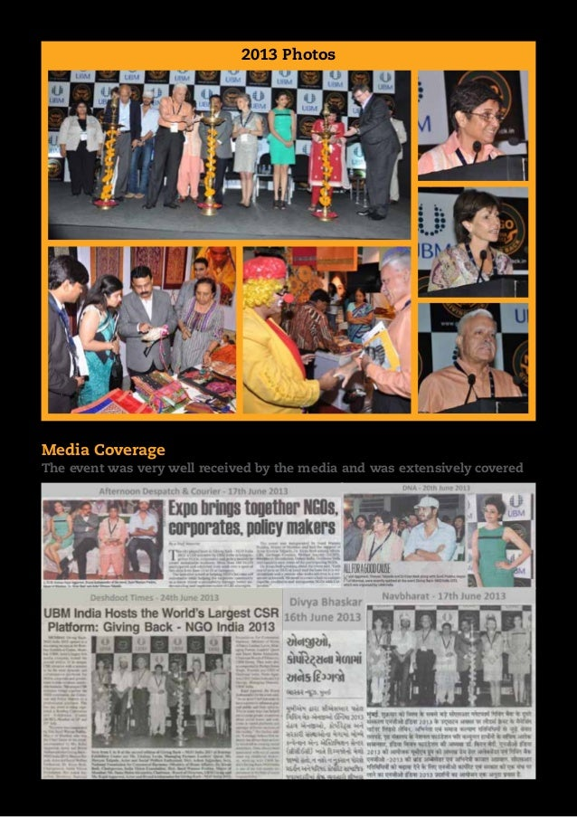 2013 Photos  Media Coverage The event was very well received by the media and was extensively covered