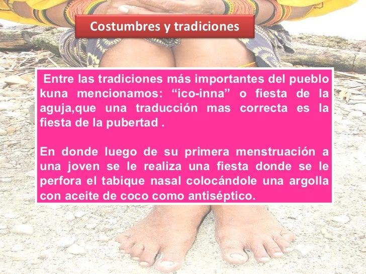 MUJER KUNALas mujeres se visten concamisas de mola alusiva ala fauna y flora que los rodea,y faldas de tres yardasanudadas...