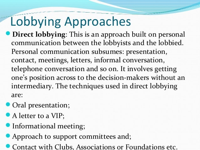 research on lobbying and ngos This argument, derived from theories of lobbying in american and  and the  broader implications of these results for research on ngos in.