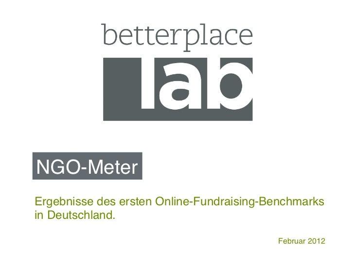 NGO-Meter!Ergebnisse des ersten Online-Fundraising-Benchmarksin Deutschland.!                                          Fe...