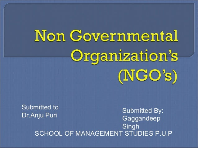 Submitted to Dr.Anju Puri Submitted By: Gaggandeep Singh SCHOOL OF MANAGEMENT STUDIES P.U.P
