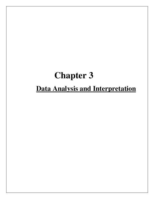 Chapter 3Data Analysis and Interpretation
