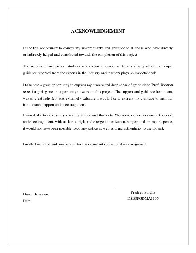 ACKNOWLEDGEMENTI take this opportunity to convey my sincere thanks and gratitude to all those who have directlyor indirect...