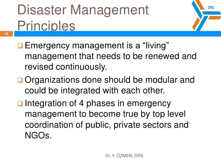 Create disaster scenarios