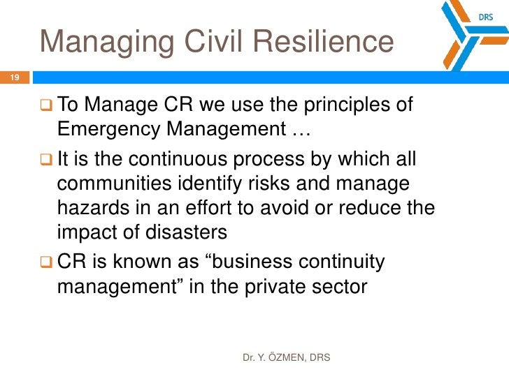 Why is CR important?<br />Dr. Y. ÖZMEN, DRS<br />17<br />Relatively small investments in preparation can speed up recovery...