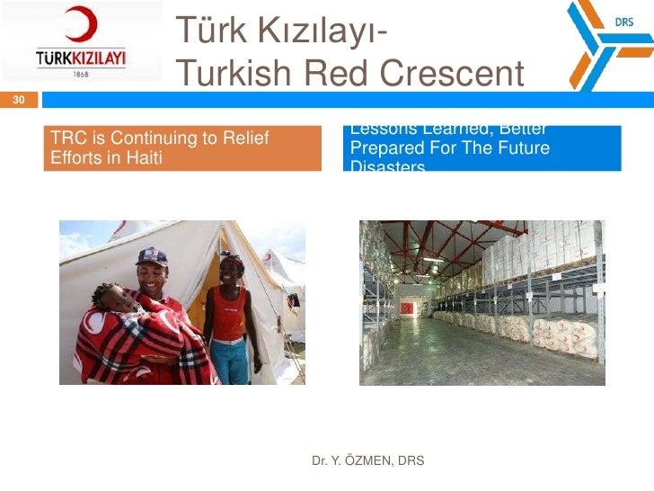 Türk Kızılayı- TurkishRedCrescent<br />Dr. Y. ÖZMEN, DRS<br />28<br />MISSION: Turkish Red Crescent Society is a humanitar...