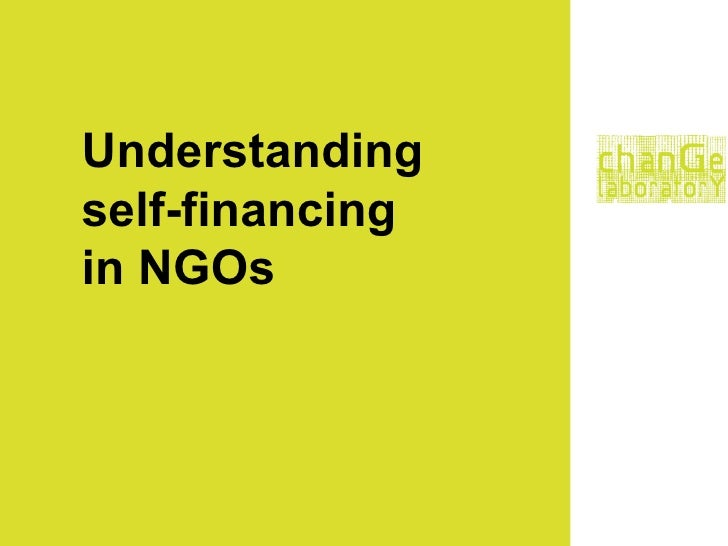 Understanding self-financing in NGOs