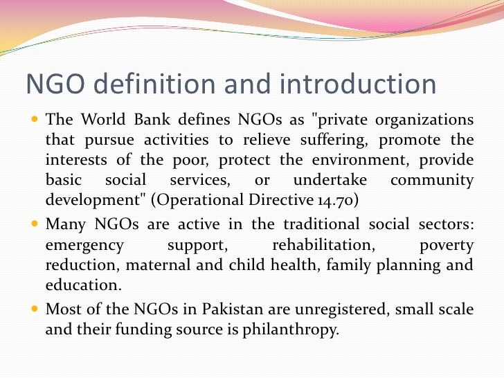 What is an NGO and how to market it?