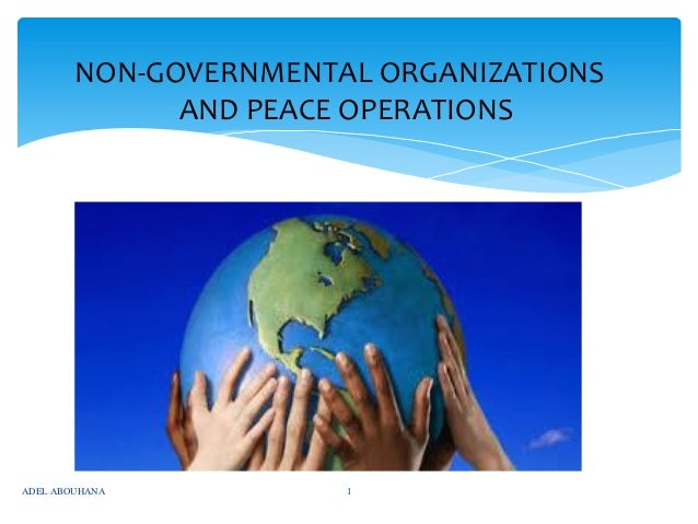 NON-GOVERNMENTAL ORGANIZATIONS AND PEACE OPERATIONS  ADEL ABOUHANA  1