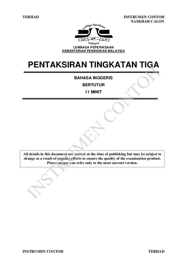 Pt3 Speaking Sample Test Candidate Booklet