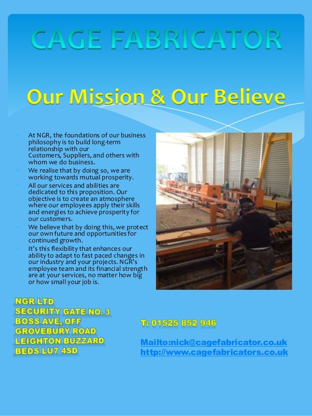 Our Mission & Our BelieveAt NGR, the foundations of our businessphilosophy is to build long-termrelationship with ourCusto...