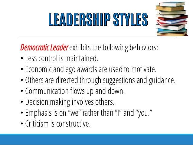 democratic leadership in nursing