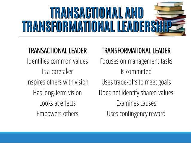 transformational leadership styles in nursing