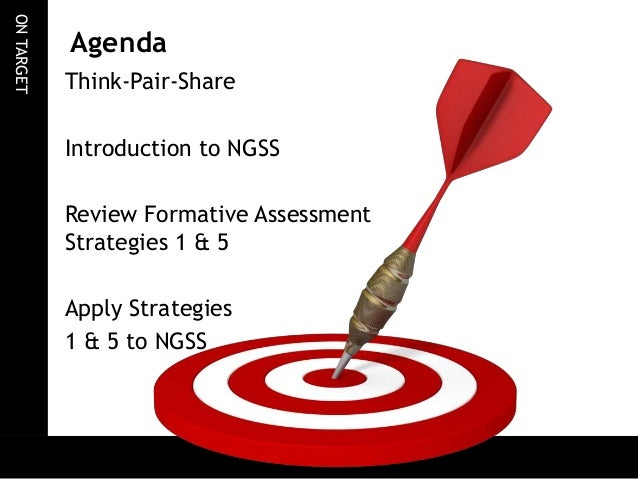 Applying Formative Assessment Strategies    To The Ngss