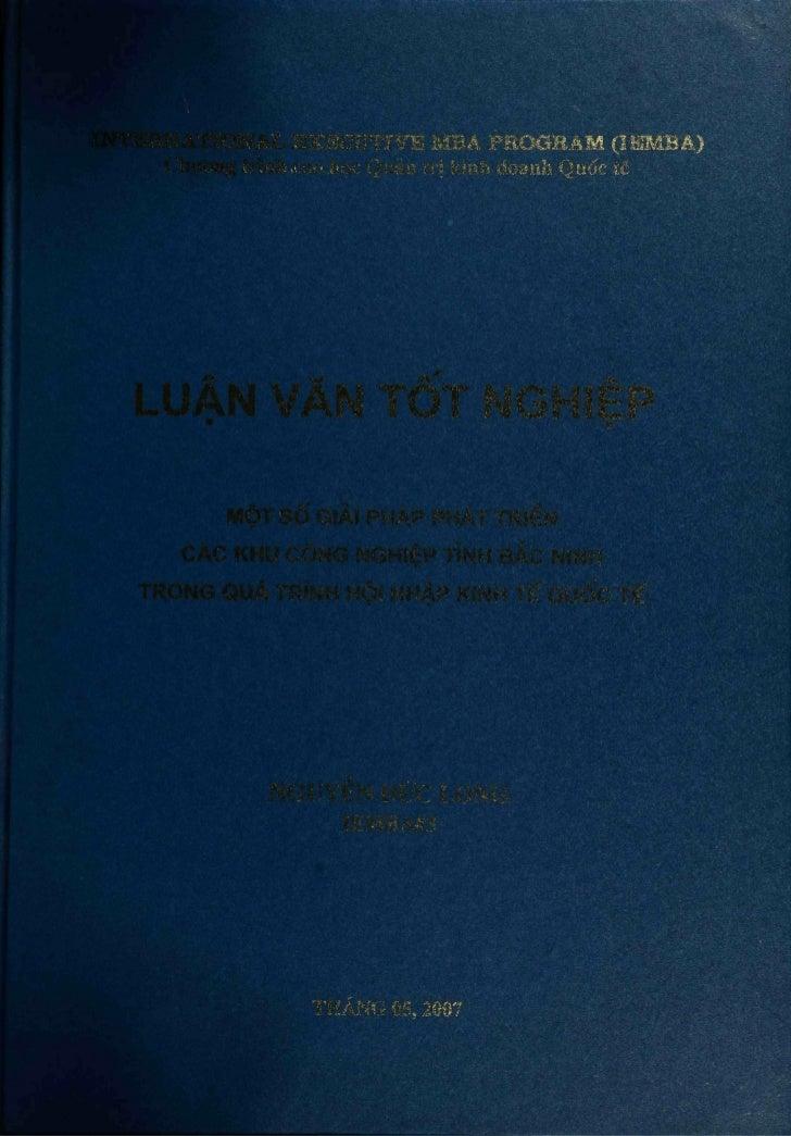 INTERNATIONAL EXECUTIVE MBA PROGRAM (leMBA)    Chirang trình cao hoc Quàn trj kinh doanh Quóc téLUÀN VAN TÒT NGHIÉP       ...