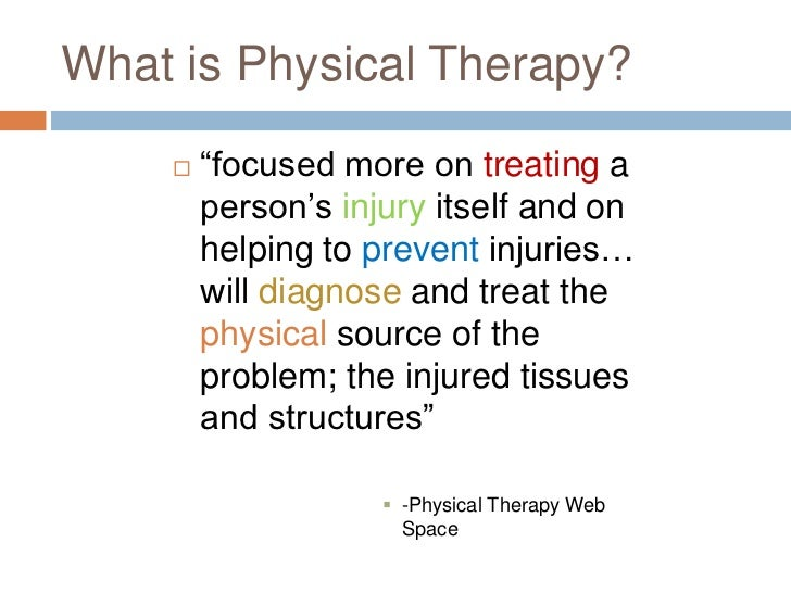 occupational therapy vs physical therapy Occupational therapy occupational therapy is the treatment established to develop, regain, or maintain the activities of daily living and work skills for patients.